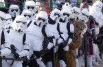 Ewok and troopers