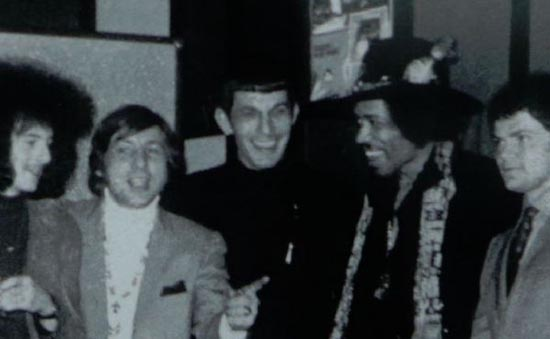 Nimoy and Hendrix: proving yet again you'll never be as cool as Spock.