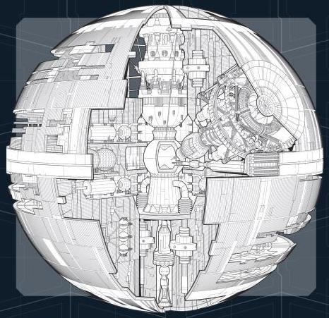 Death Star Cutaway By Chris Trevas And Chris Reiff Roqoo Depot