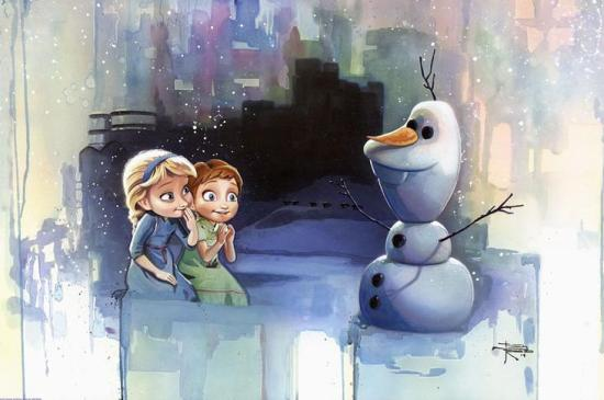 Frozen-Snowman-by-Brian-Rood