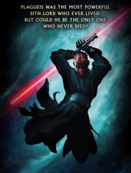 Darth Maul on the backcover of Star Wars: Darth Plagueis